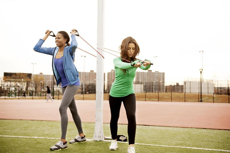 resistance training with a pole