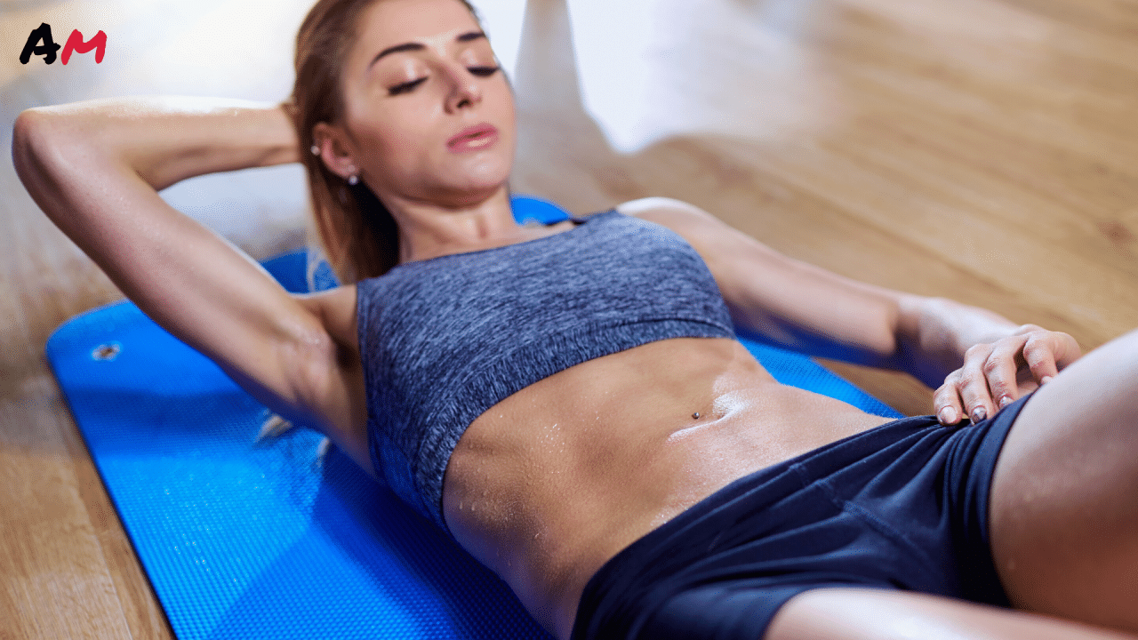 at home workout sweat