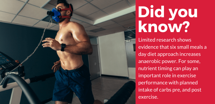 small meals impact on athletic performance